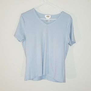 Light Blue Cotton Blouse by Talbots